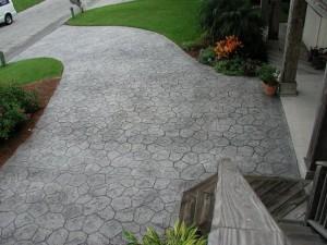 pavage beton imprime