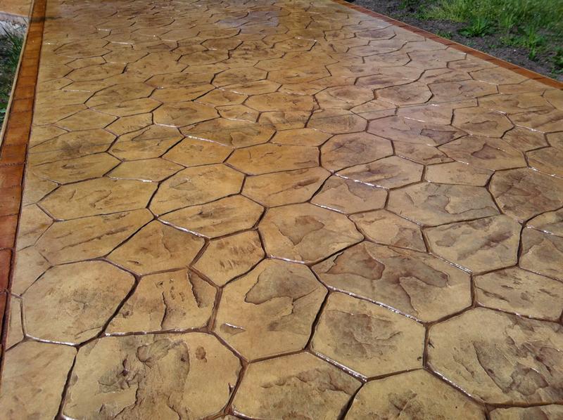 beton imprime pierre